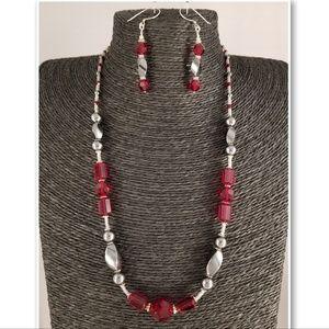 Swarovski Crystal and Hematite Set